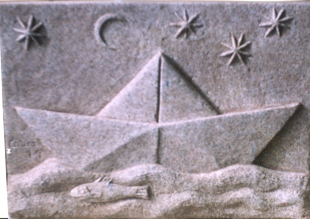 13 - Barquito de papel - piedra granito