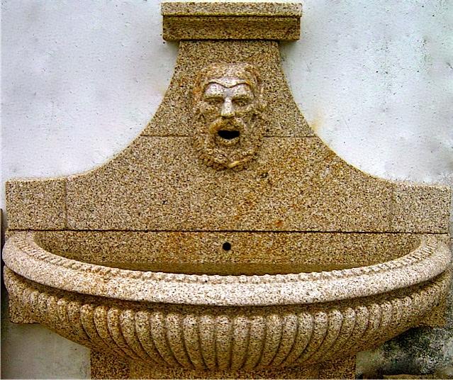 Fuentes de pared de piedra cabeza de len de piedra fuente - Fuentes de pared de piedra ...