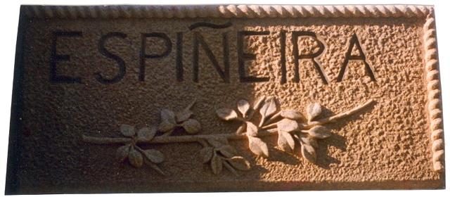 17 - Letrero - piedra granito