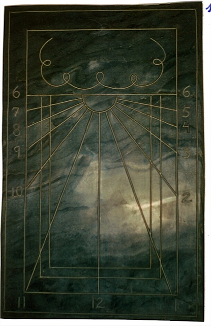 17 - Reloj de sol vertical (sin gnomon) - pizarra
