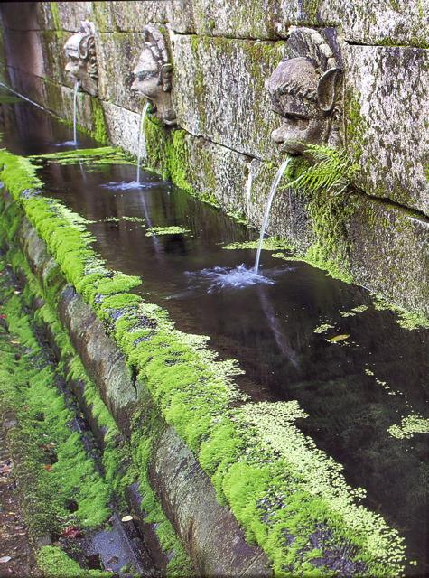 25 - Mascarones en su sitio definitivo - piedra granito