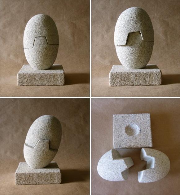 22 - Canto rodado de abrir - piedra granito - 24x13x10cm aprox - Precio 150,00 €