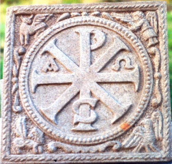 29 - Crismón románico - piedra granito