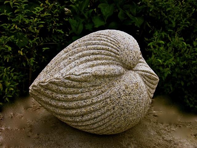 24 - Berberecho - piedra granito - 30x25x25cm aprox