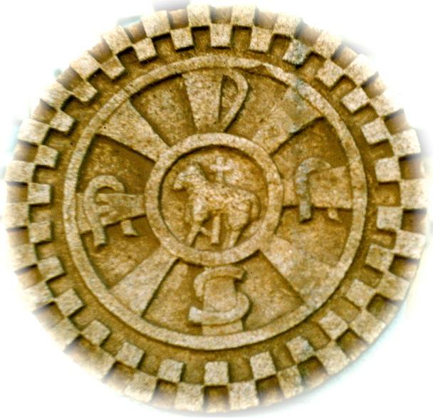 30 - Crismón románico - piedra granito