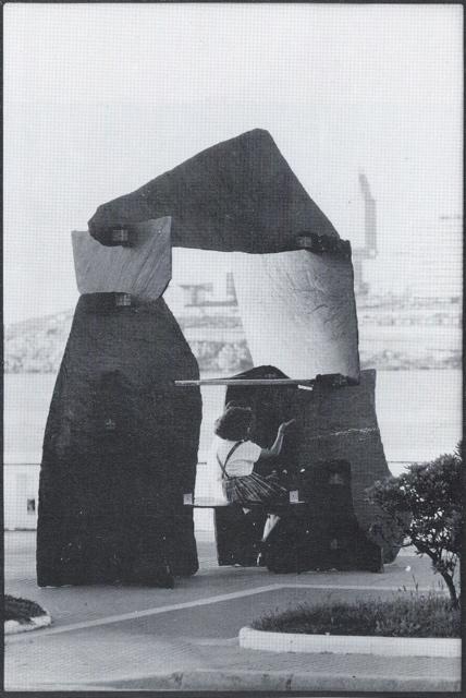 32 - Lousas de Mondoñedo -pizarra y acero inoxidable - 400x350x300cm - 1988