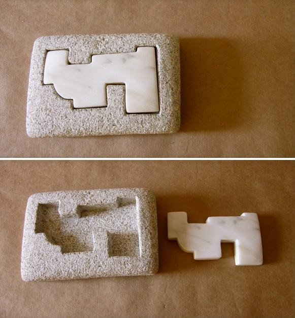27 - Incrustación de mármol - granito y mármol -18x12x5cm aprox - Precio 90,00 €