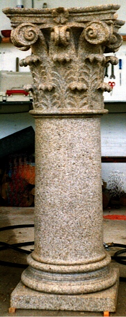 34 -Basa, columna, capitel - piedra granito