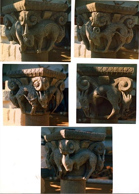 4 - Capitel Románico - piedra granito