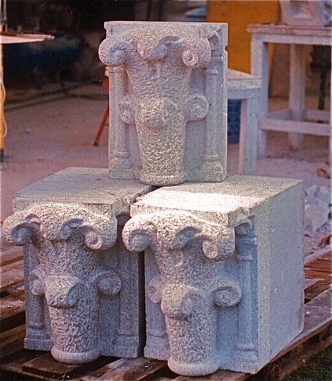 4 - Pieza para la restauración del coro del Maestro Mateo - piedra granito