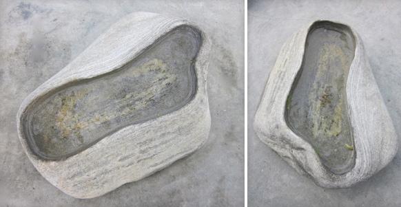 34 - Bebedero baño para pájaros - piedra - 35x25x9cm aprox - Vendida