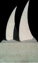 5 - Escultura Velas. Tristan-tres - piedra granito