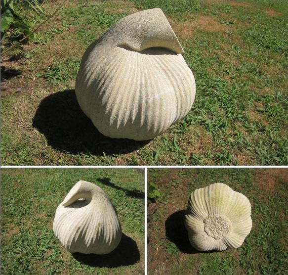 59- Cabeza de ajos - piedra granito - 35x35x35cm