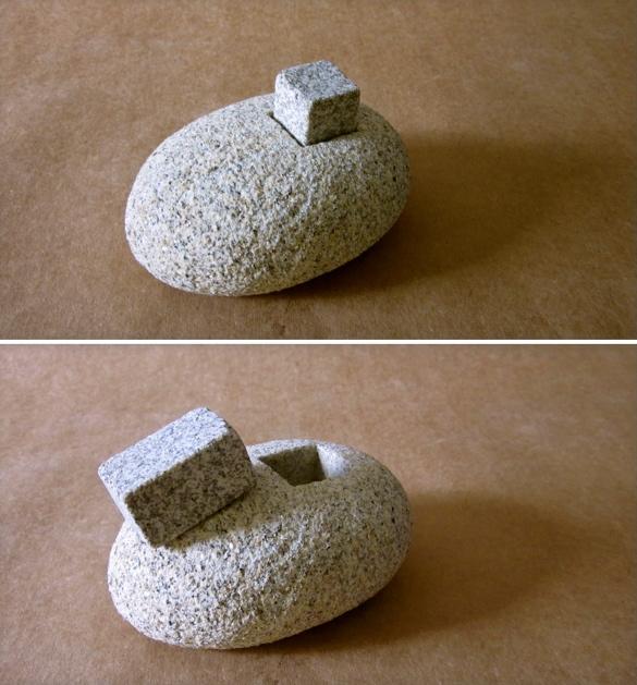 8 - Pisapapeles - piedra granito - 11x9x7cm aprox - Precio 50,00 €